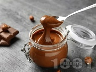Течен шоколад с лешников тахан, кокосово масло и брашно от рожков
